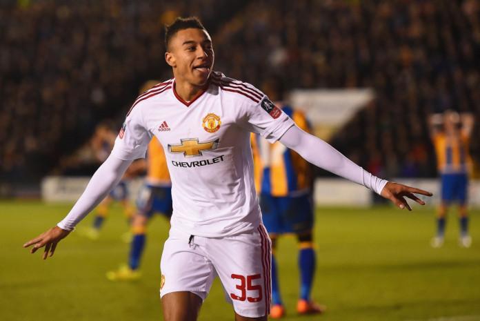 Lingard celebrates his goal