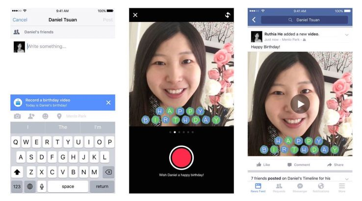 Facebook introduces birthday cam which allows users to say more than just HBD