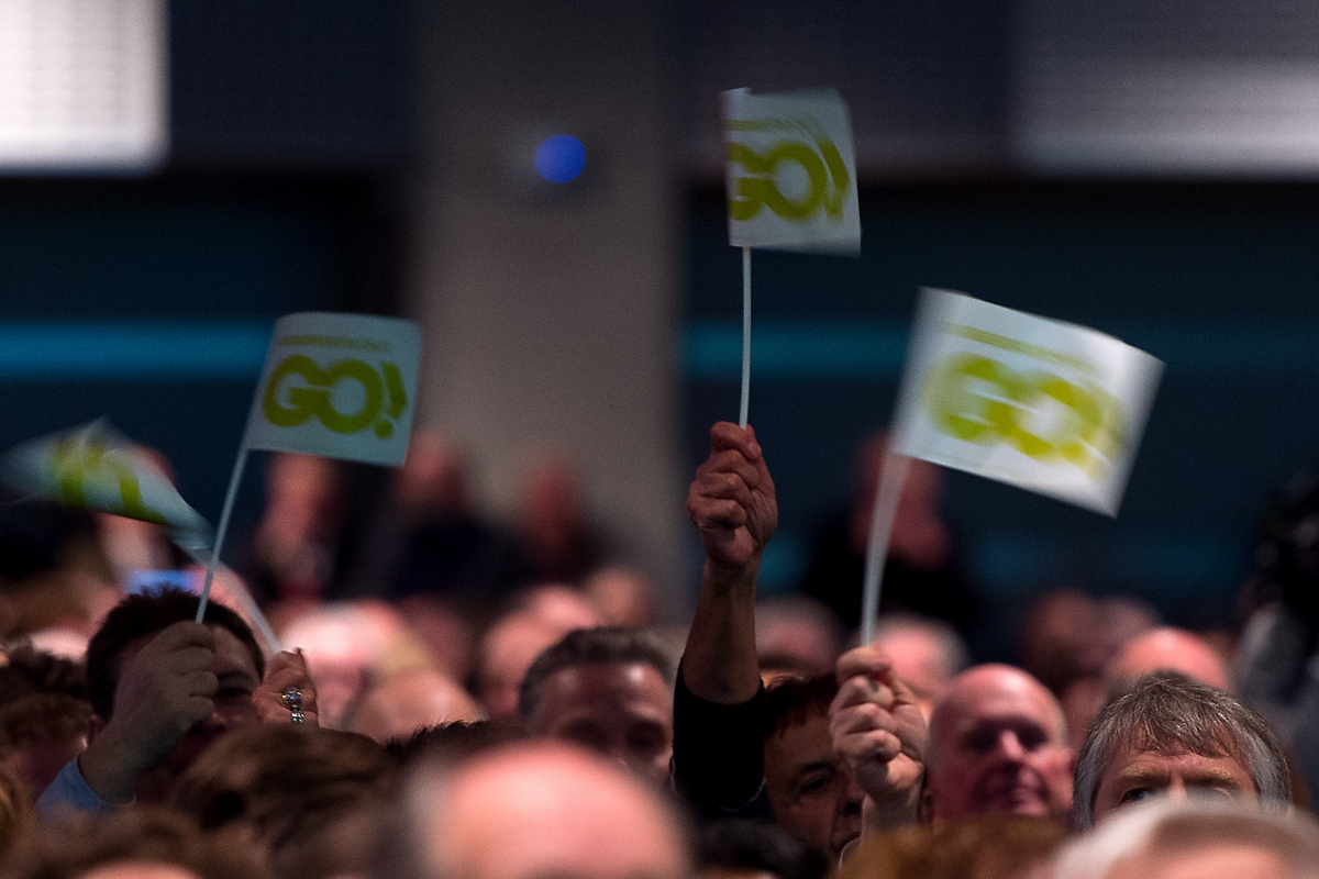 Grassroots Out rally in London