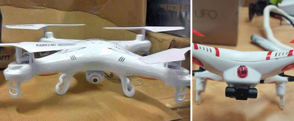 Drones found in toy shipments