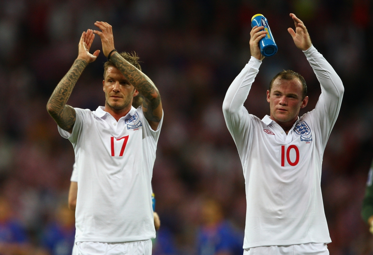 David Beckham and Wayne Rooney