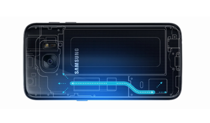 Samsung Galaxy S7 water cooling demo