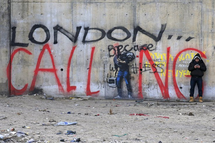 Banksy Calais migrant crisis mural painted over because