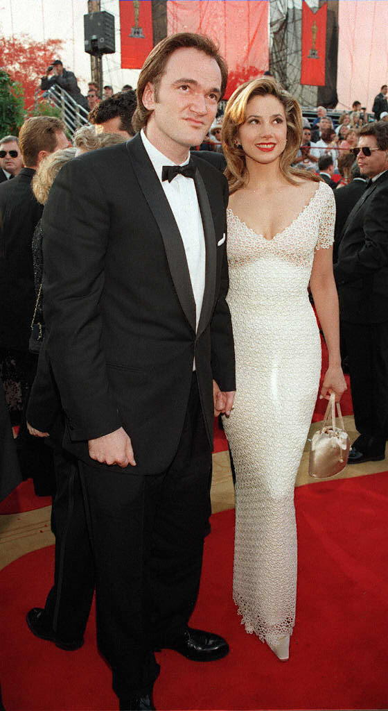 Quentin Tarantino and actress Mira Sorvino