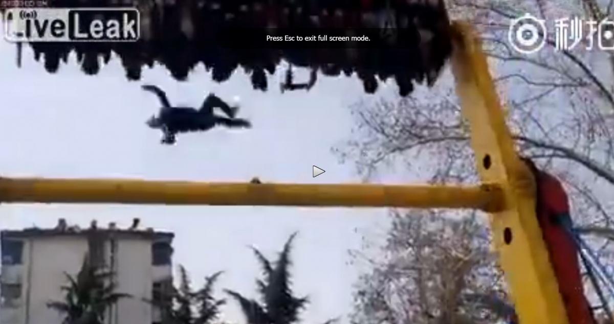 Liveleak Image: Shocking Video Shows Man Falling From Amusement Park Ride