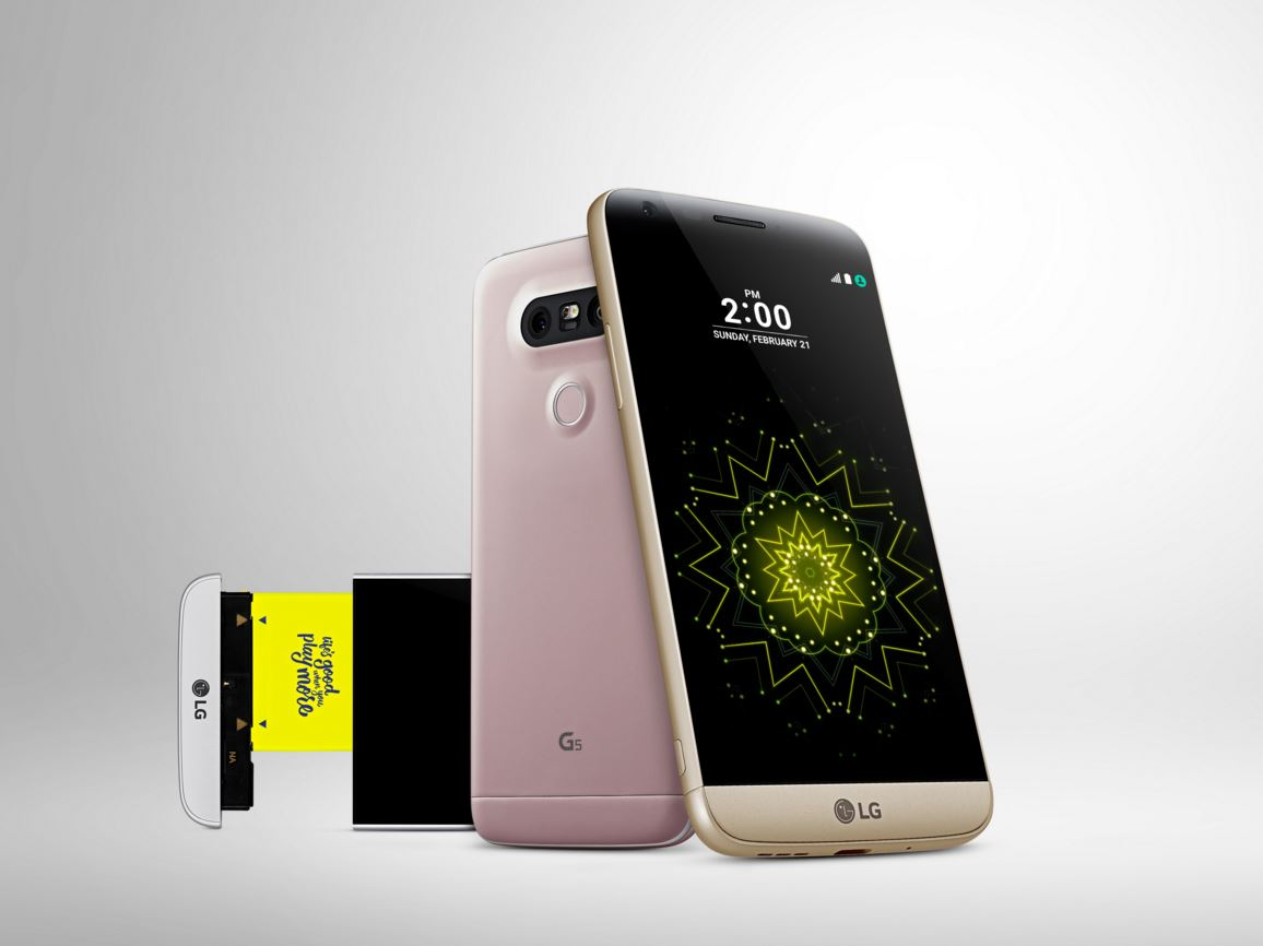 LG G5 sales in 2016