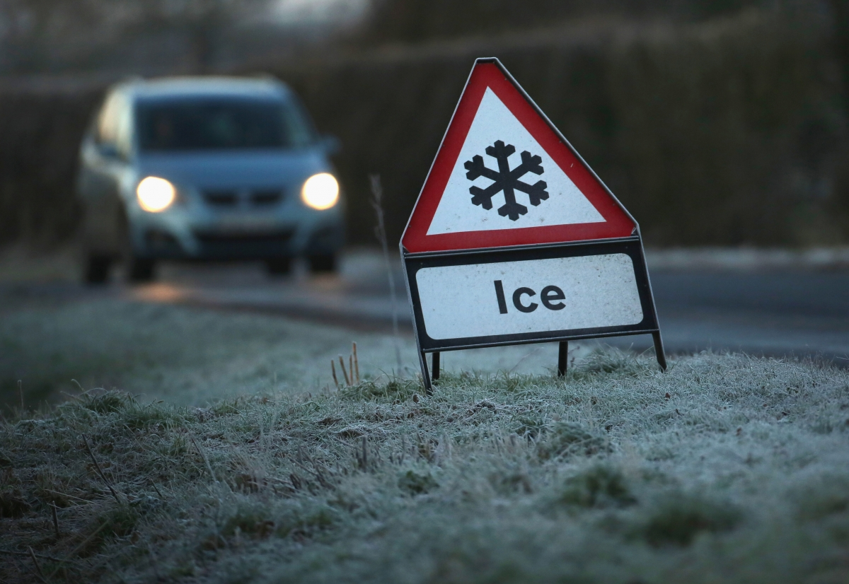 Ice on UK roads