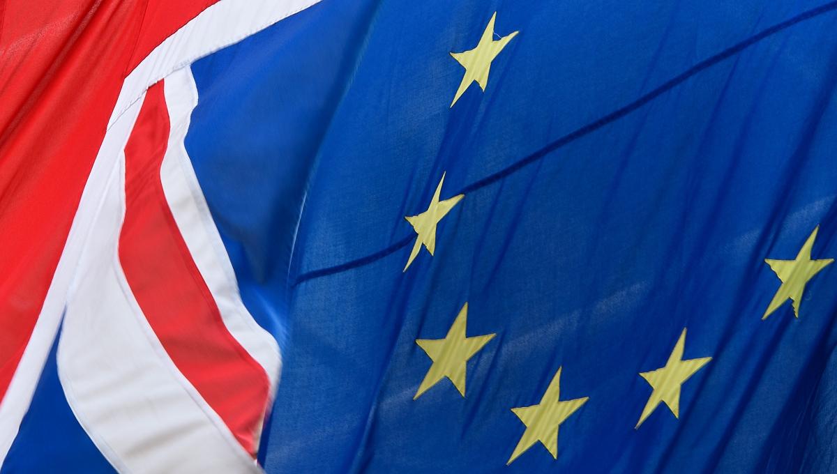 EU UK flags referendum