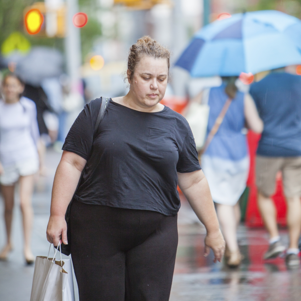 Obese woman outdoor