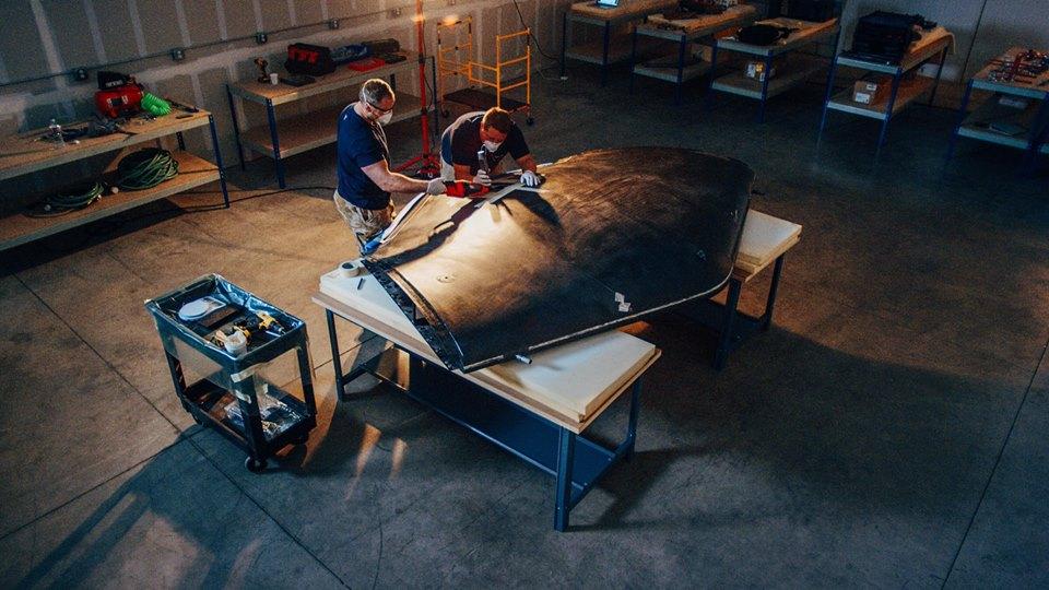 Facebook engineerers working on drone