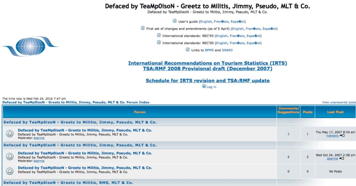 TeamPoison UN database defaced