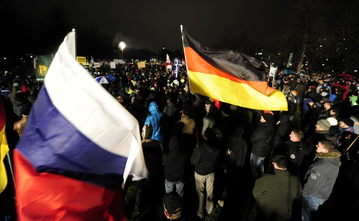 Pegida protesters