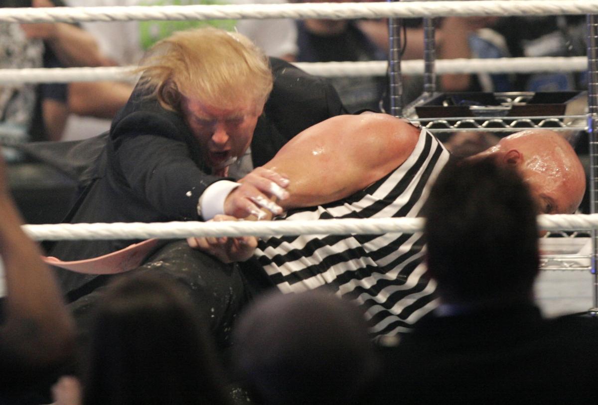 Donald Trump wrestling