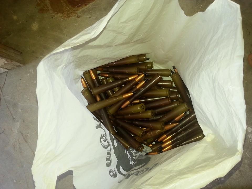 A bag full of ammunition