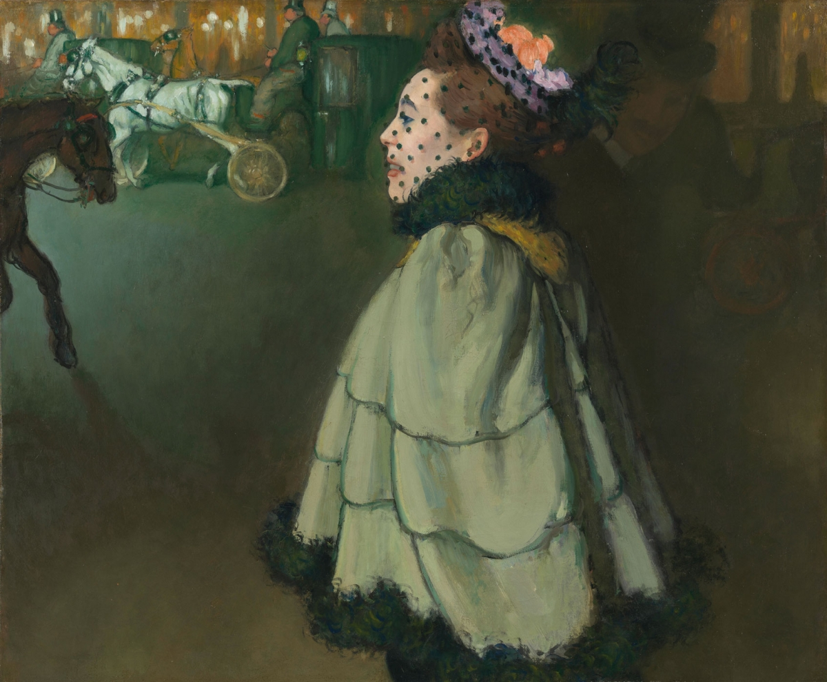 Louis Anquetin, Woman on the Champs-Élysées, at Night, 1891