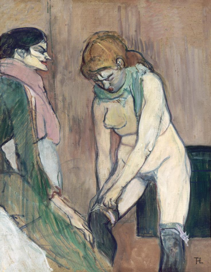 Henri de Toulouse-Lautrec, Woman Pulling up her Stockings, 1893