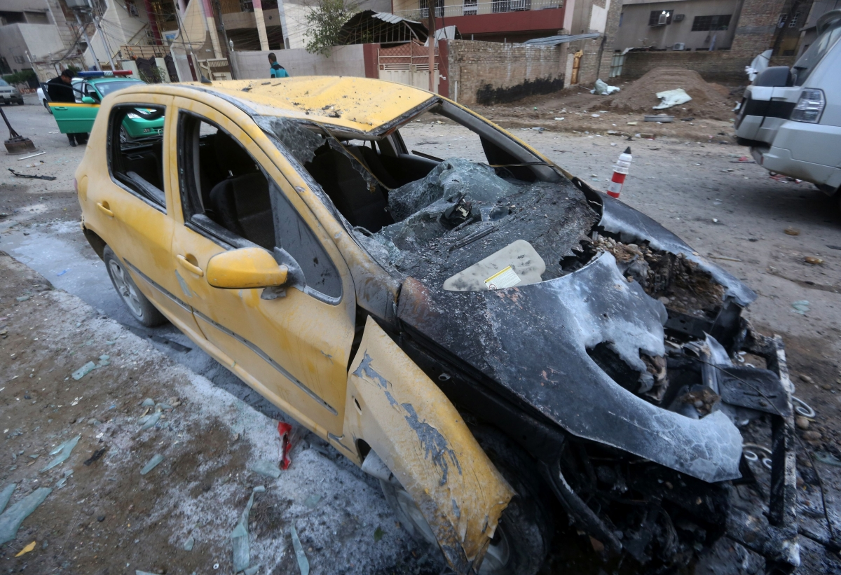 Baghdad the day after a bomb attack