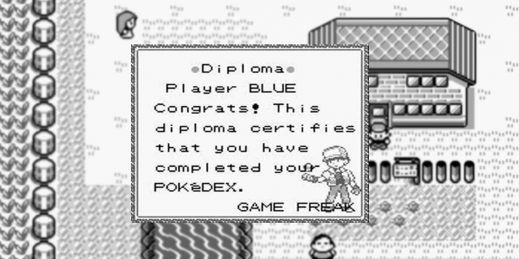 Pokemon Red Blue Diploma