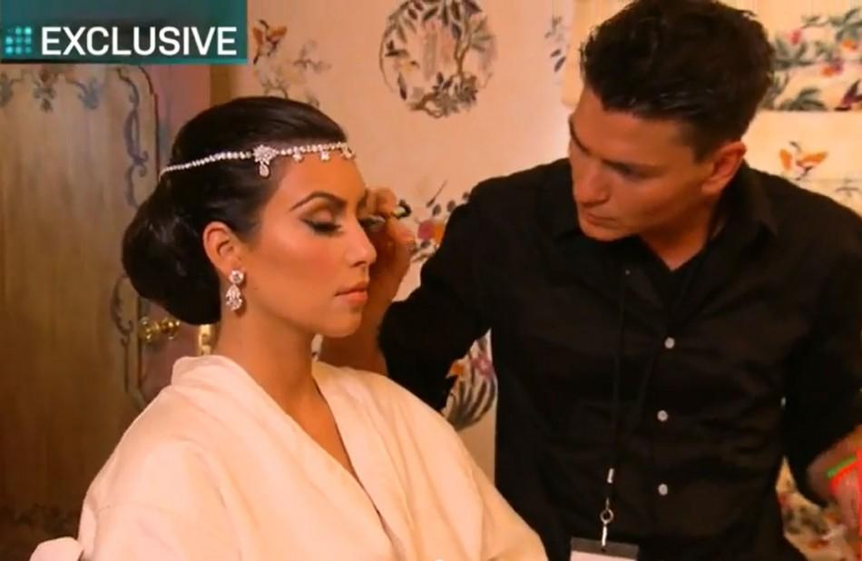 Kim Kardashian is making the last preparation.