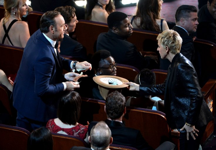 Ellen DeGeneres hosting the Oscars