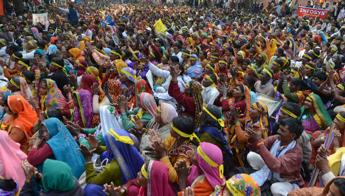 Dalit women protest