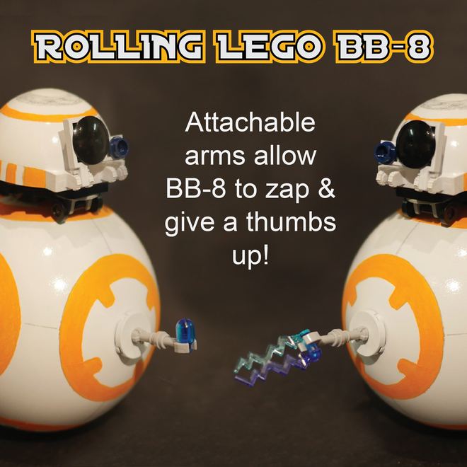 A miniature Lego BB-8 that actually rolls!