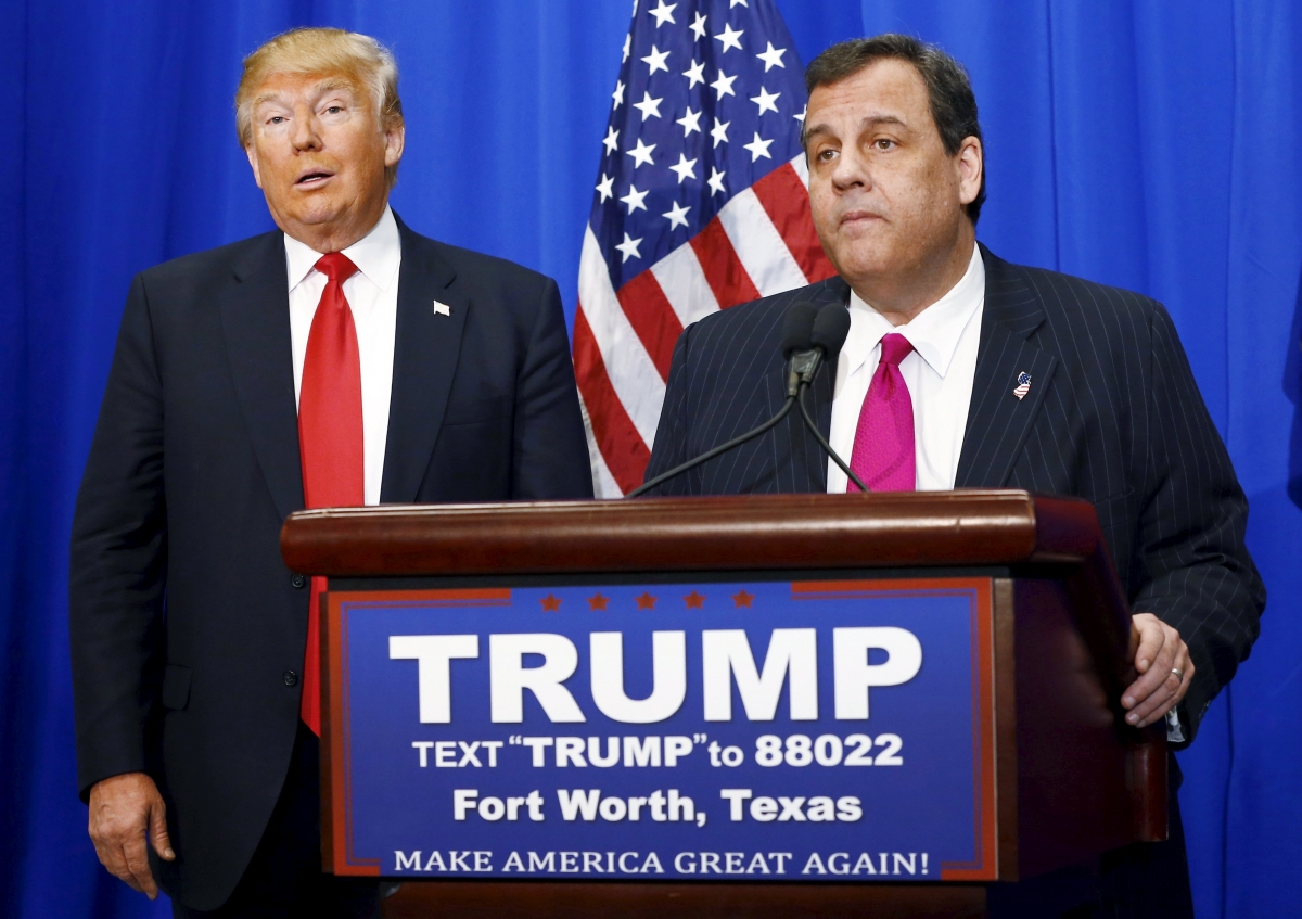 Donald Trump and Chris Christie