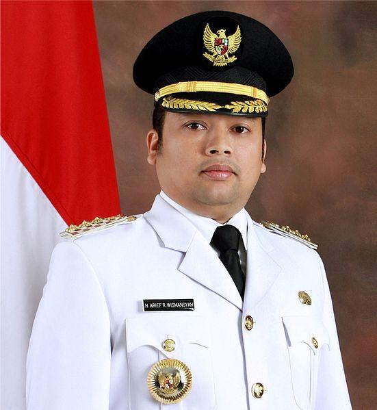 Arief R Wismansyah, mayor of Tangerang in Jakarta