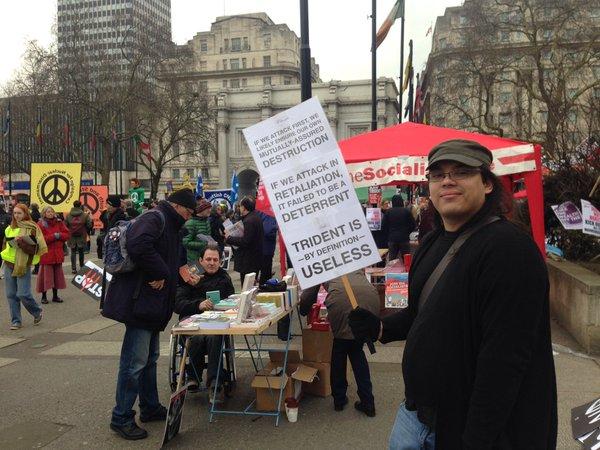 CND rally at Trafalgar Square, London