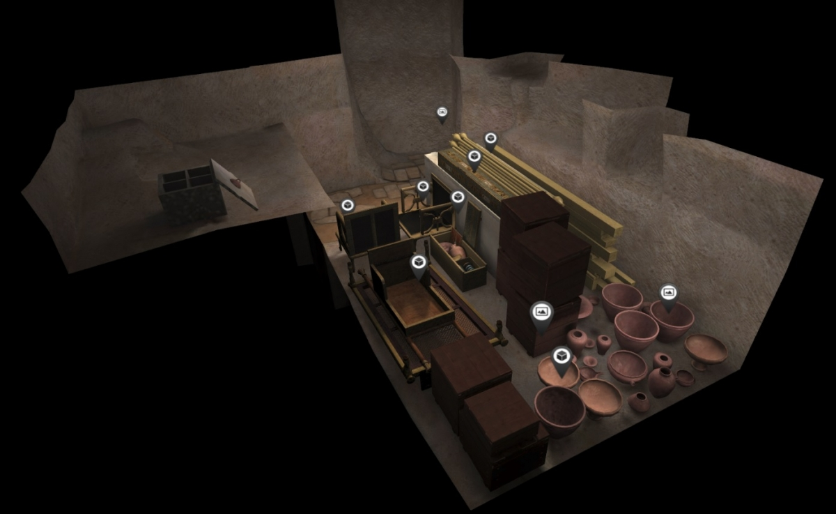 The interiors of ancient tombs in 3D virtual reality
