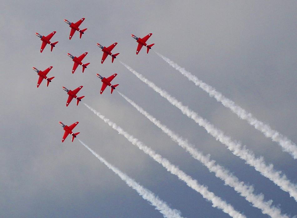 Red Arrows Return to UK Skies