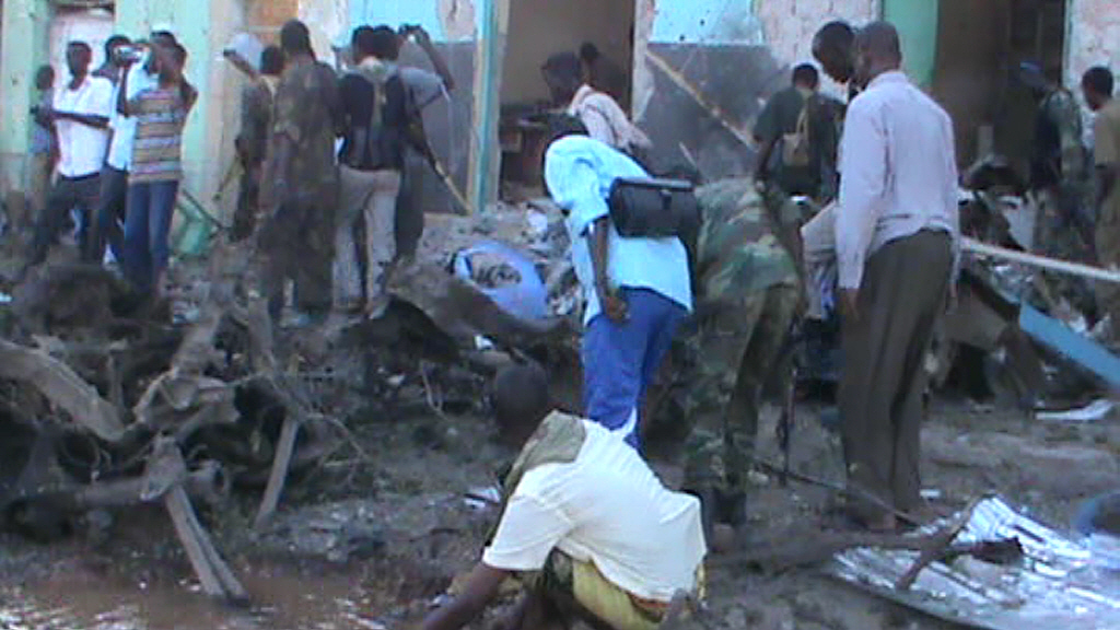 Baidoa after twin explosions