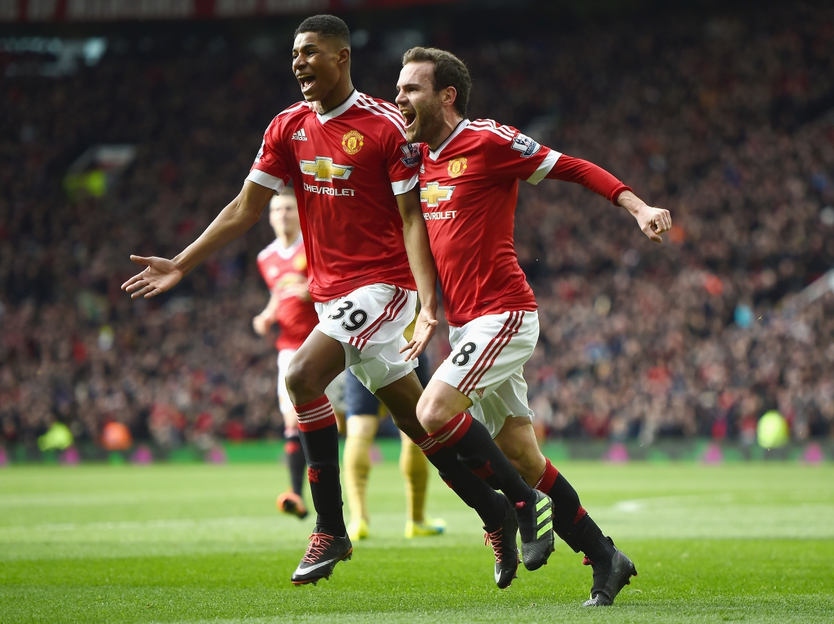 Marcus Rashford and Juan Mata