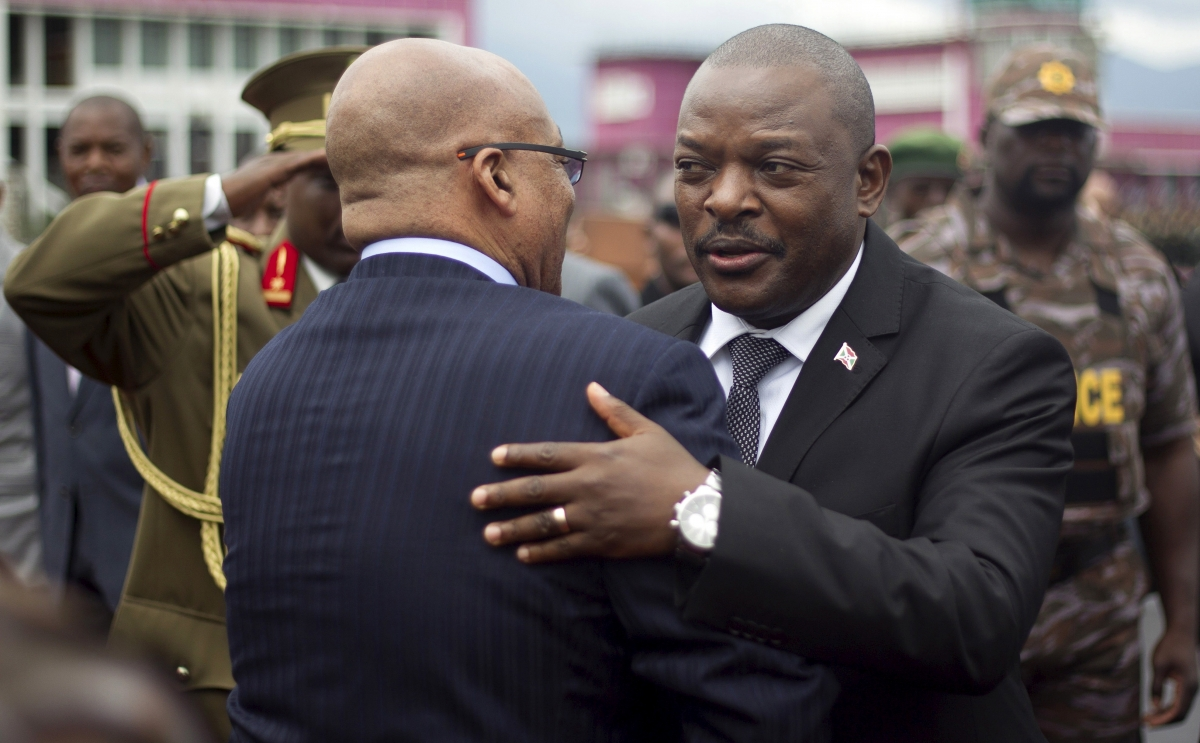Jacob Zuma and Pierre Nkurunziza