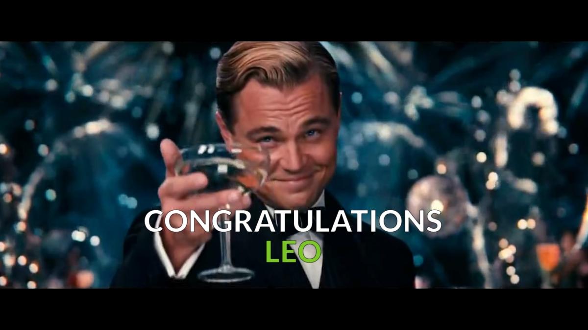 Leonardo's oscar speech