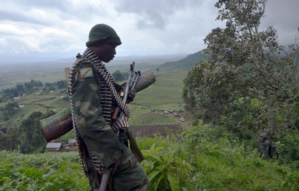 Fight against M23 rebels in Goma, DRC