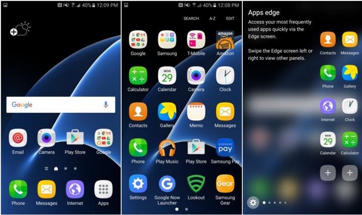 touchWiz on Galaxy S7