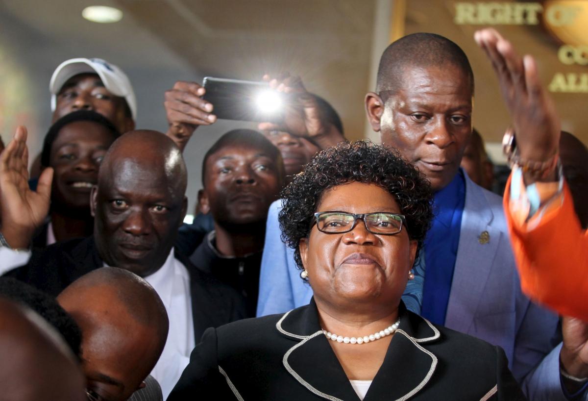 Zimbabwe's former vice president Joice Mujuru