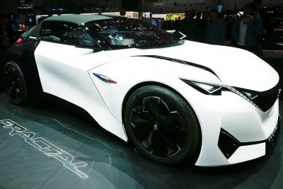 Geneva Motor Show 2016 Peugeot Fractal electric coupe