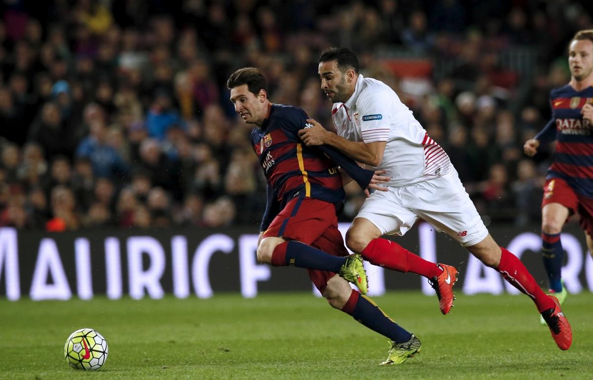 Lionel Messi & Adil Rami