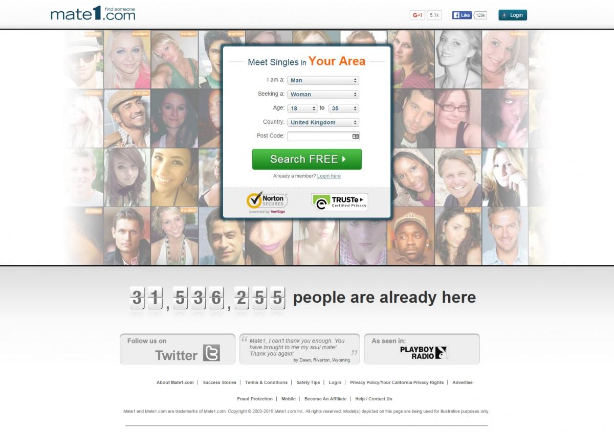 Mate1 dating website