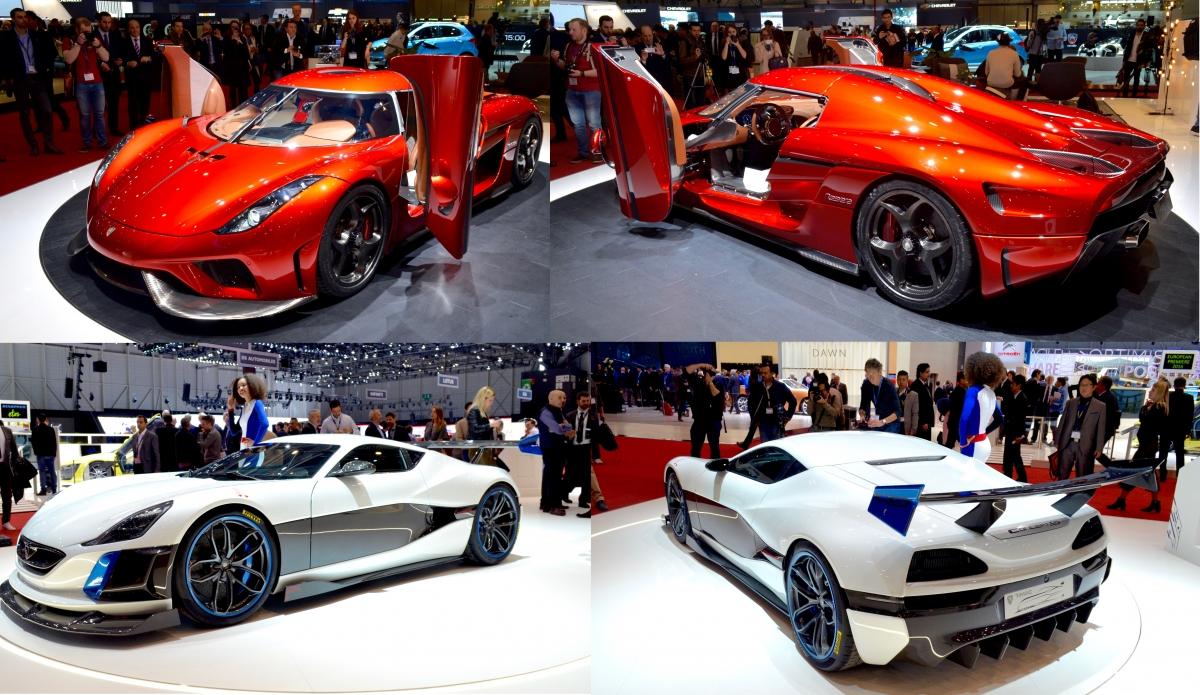 Koenigsegg Regera and Rimac Concept S