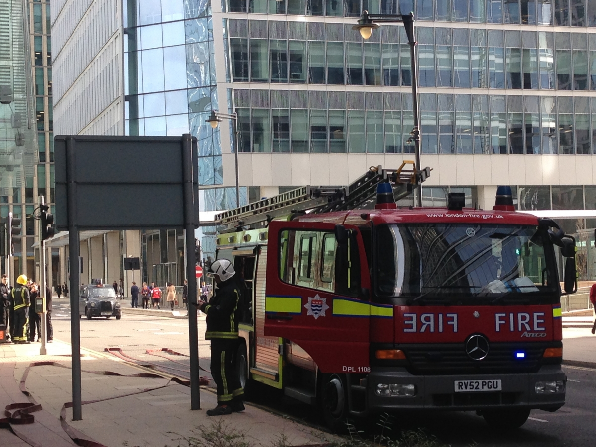 fire in canary wharf