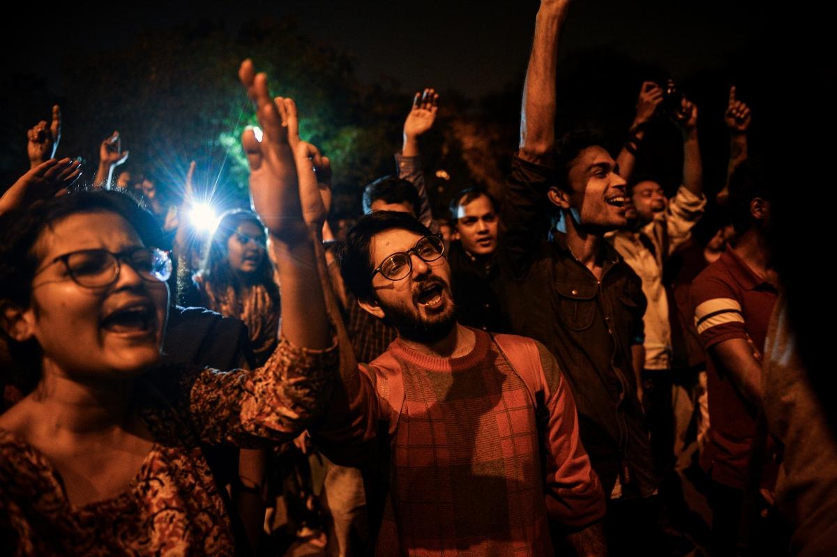Students celebrate release of Kanhaiya Kumar
