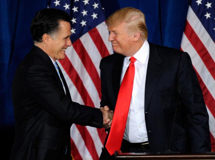 Mitt Romney and Donald Trump
