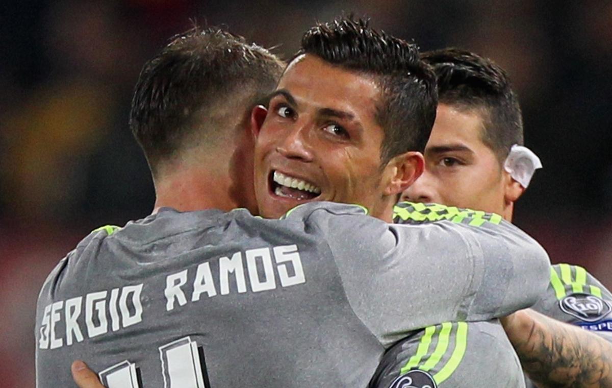 Cristiano Ronaldo and Sergio Ramos