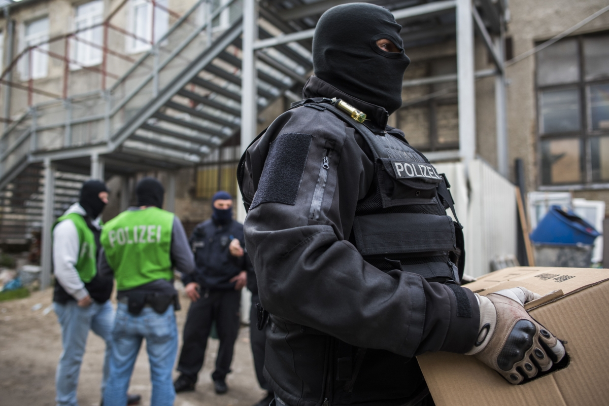 Berlin police in a raid on amosque