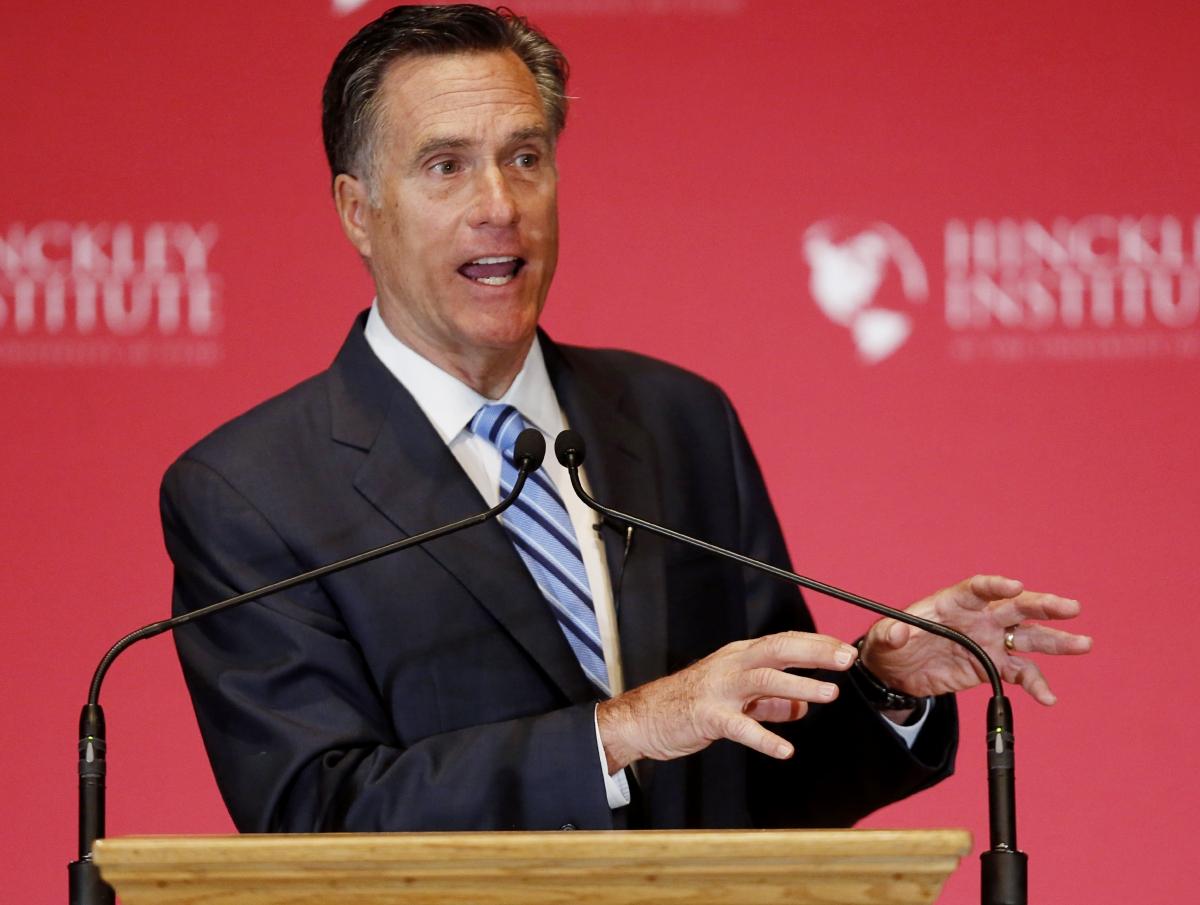Mitt Romney attacks donald trump 2016