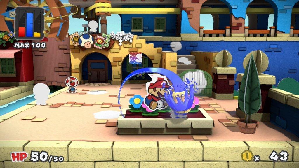 Paper Mario Colour Splash Wii U Screenshot