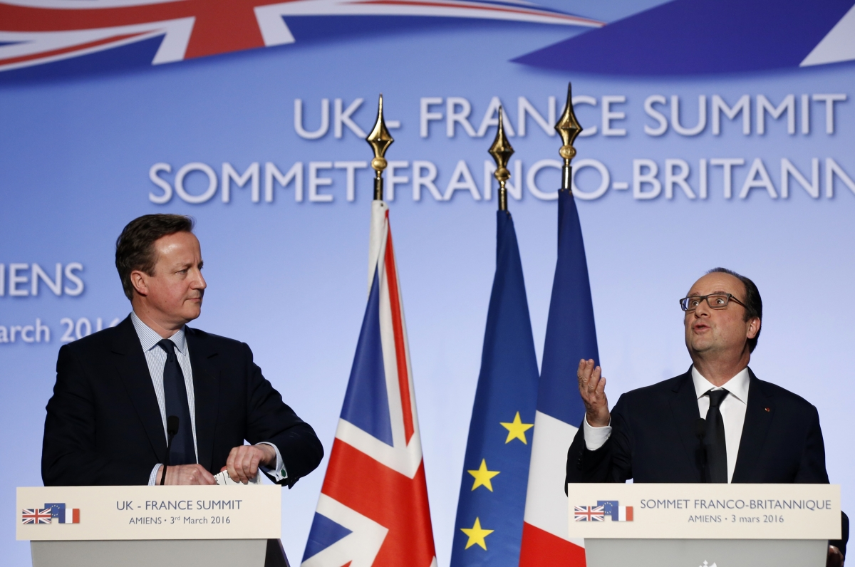 David Cameron and Fancois Hollande